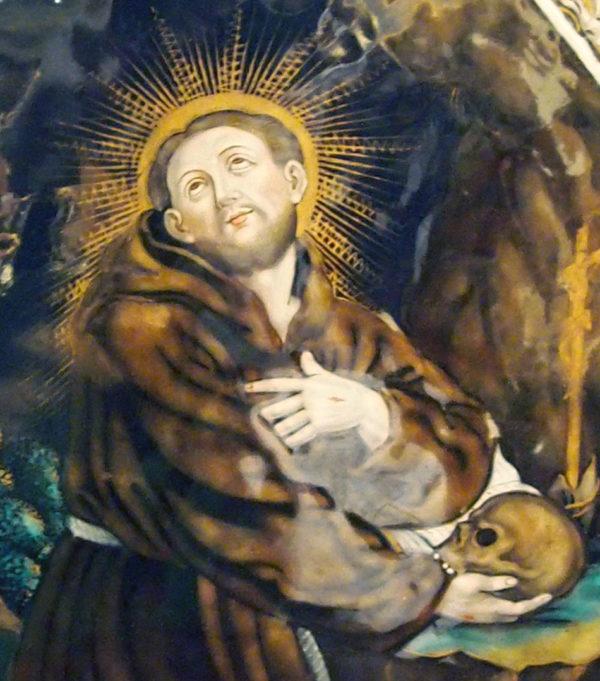Plaque sur cuivre émaillé, saint Jérôme, Limoges 18e