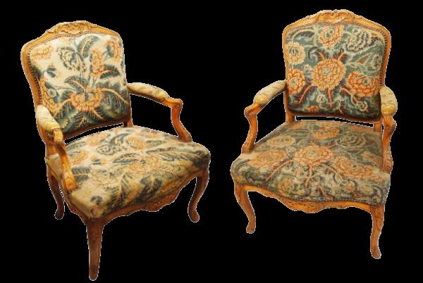 Paire de fauteuils Régence