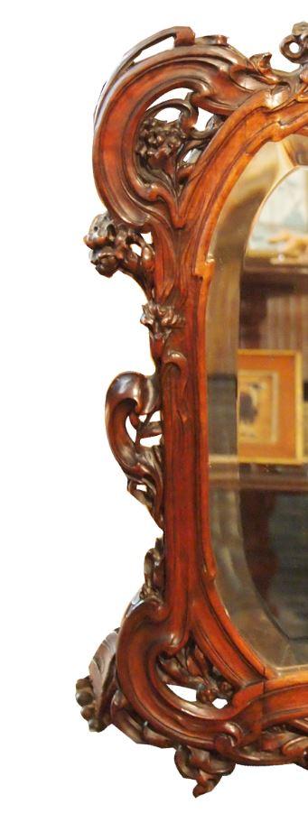 Miroir en bois attribué à Hector GUIMARD