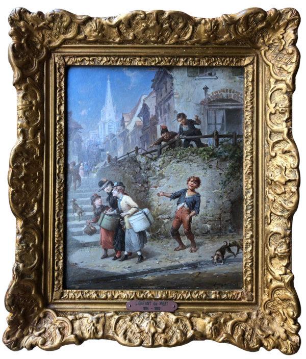 Enfants s'amusant - François Louis LANFANT dit LANFANT de Metz (1814-1892)