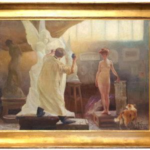 L'atelier - Gaston HOFFMANN(1833-1977)