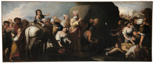 Moise adoucissant les eaux de Mara et d'Elim, début 18e
