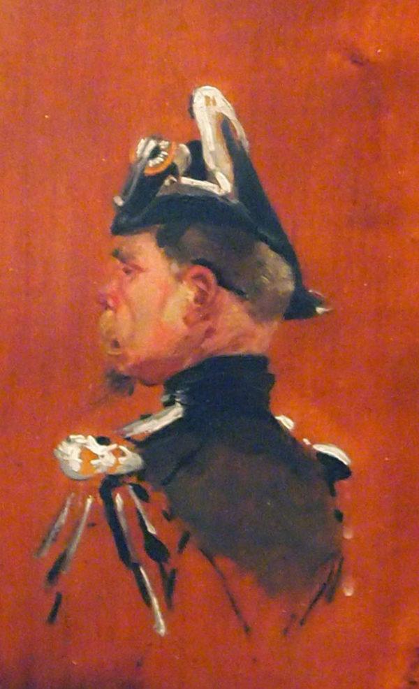 Tête de militaire, par Jean Louis Ernest MEISSONIER