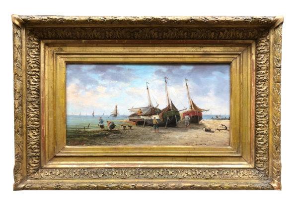Huiles sur panneaux, Bords de mer par Pierre-Julien GILBERT