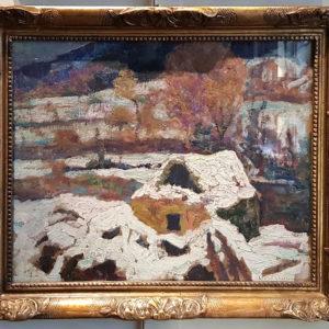huile-sur-toile-paysage-sous-la-neige-par-victor-charreton